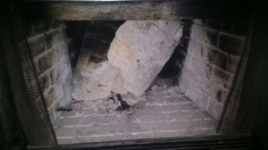 Fireplace broken needing repair
