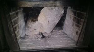 Fireplace broken needing repair