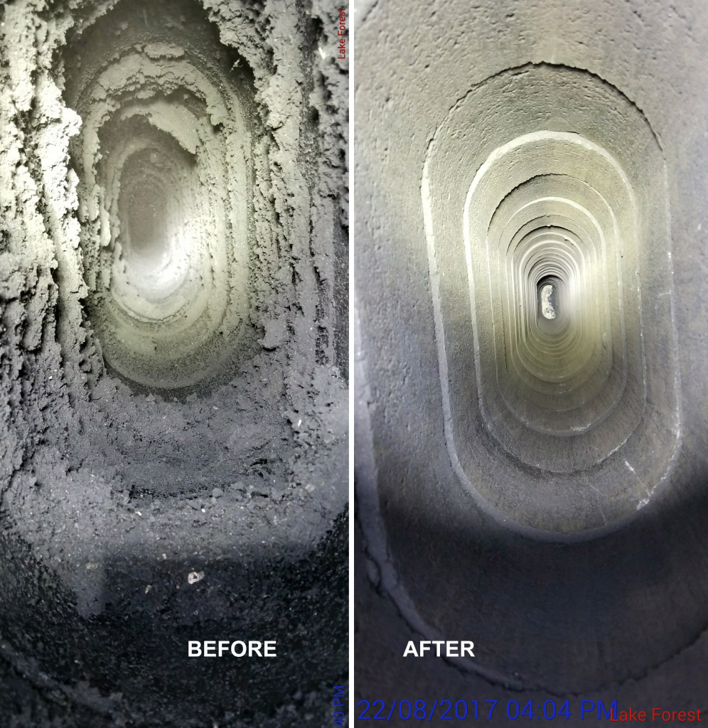 dirty chimney before & after pictures