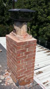 Broken Chimney Top in Fullerton