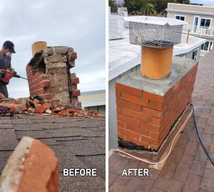 Rebuilt chimney