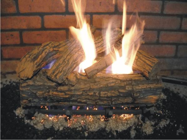 Oak logs for gas fireplace