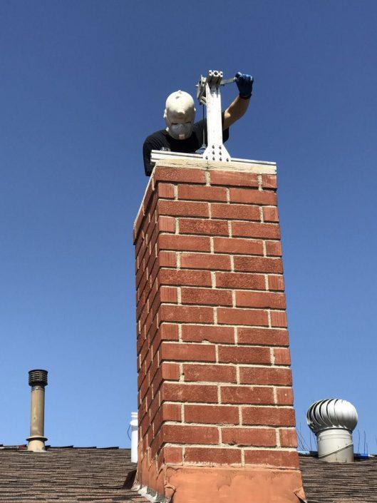 Chimney reline repair work